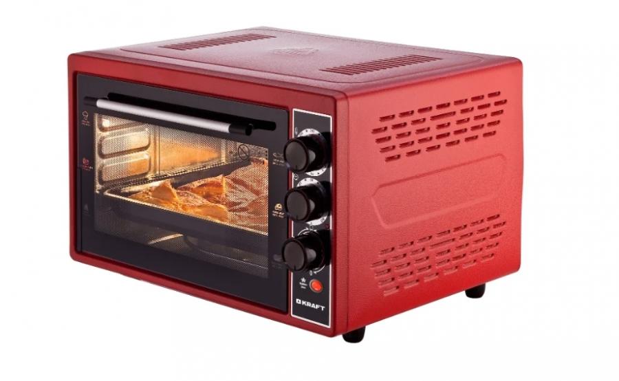 Мини-печь KRAFT КF-MO 3804KR Красная