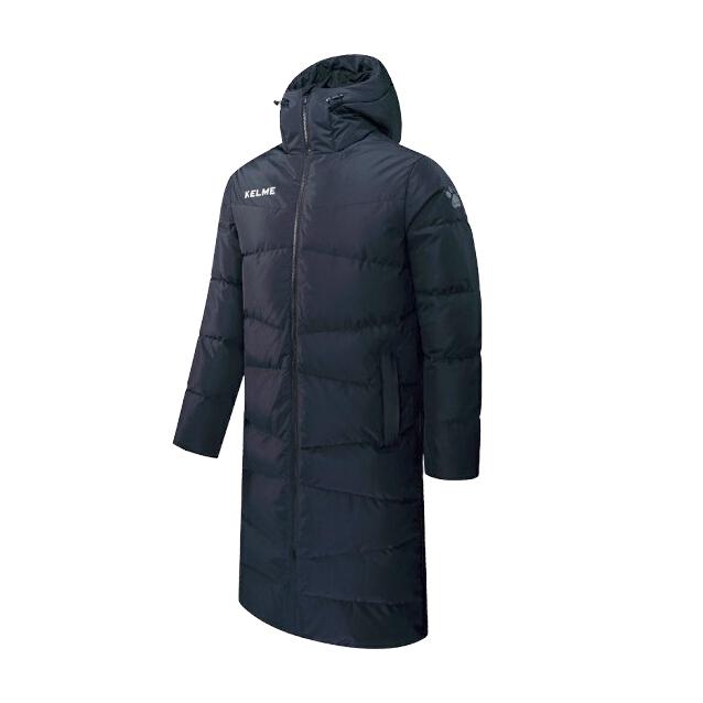 Куртка Kelme Long Down Jacket(Adult) черная, размер XXL, артикул 3881407-000