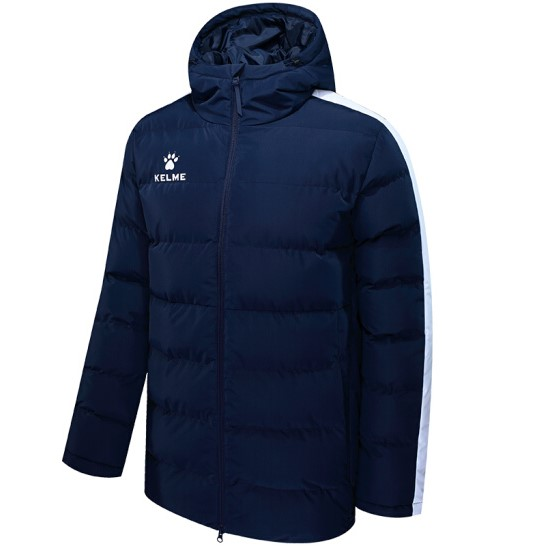 Куртка утепленная KELME Padding Jacket, темно-синяя, размер XXL, артикул 3881405-424