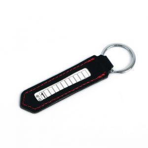 Брелок для ключей с номером телефона, кожа PU, черный 4310297