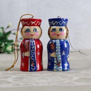 """Подвеска """"Барыня"""" 8,5 см, ручная роспись, микс  5128843"""