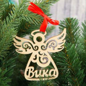 """Подвеска на елку, ангел """"Вика""""   3825764"""
