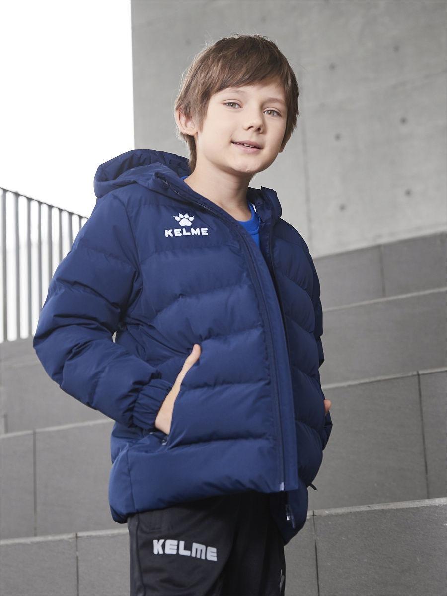 Детская куртка Kelme Padding Jacket kid темно-синяя, рост 150, артикул 3893421-416