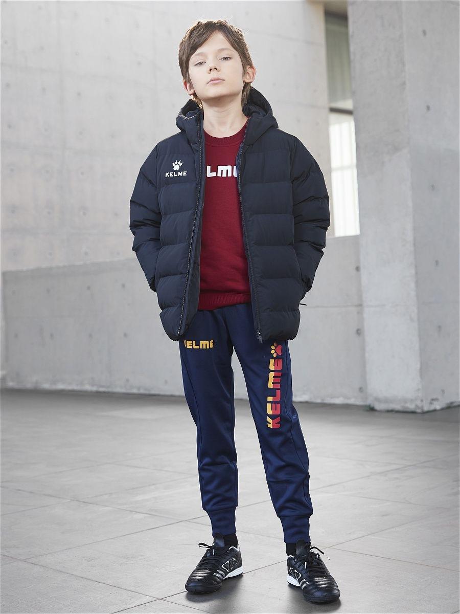 Детская куртка Kelme Padding Jacket kid чёрная, рост 160, артикул 3893421-000