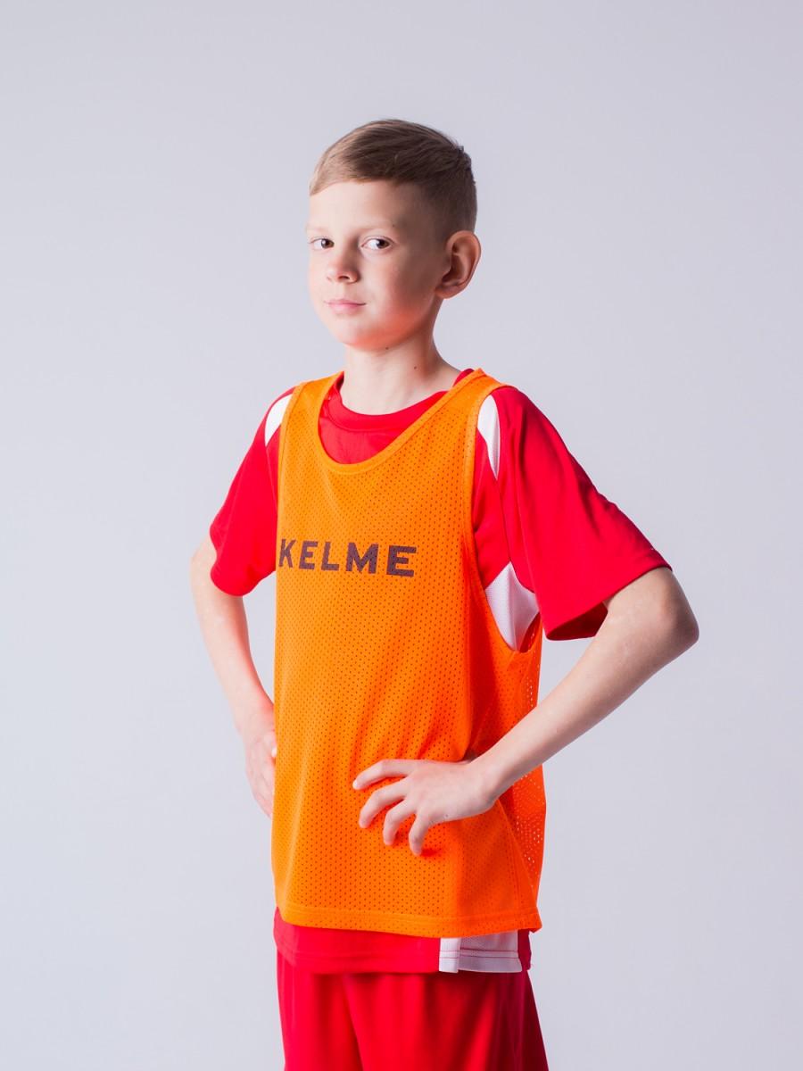 Детская манишка Kelme CONTINGENT BIB оранжевая, рост 140, артикул  K15Z247-932