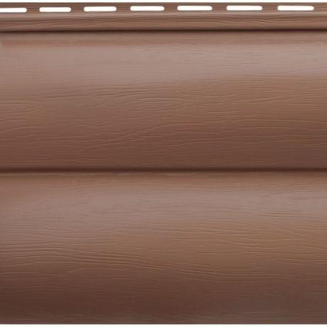 Сайдинг акриловый Альта-Профиль Blockhouse BH-03 Красно-коричневый 3100х226 мм