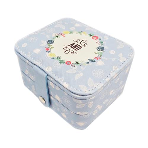 Миниатюрная шкатулка для ювелирных изделий And, 11х9х6 см. Цвет: голубой