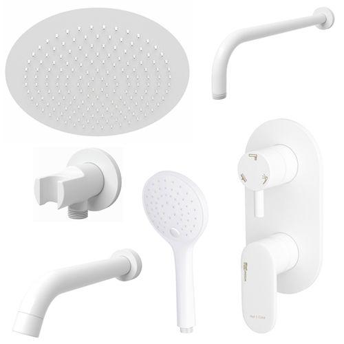 Встраиваемый комплект для ванны WasserKRAFT Mindel White