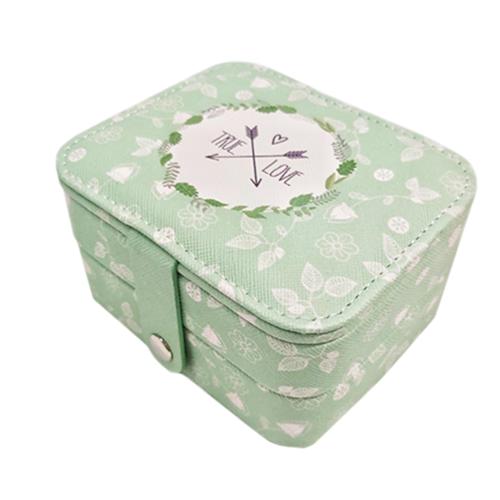 Миниатюрная шкатулка для ювелирных изделий True Love, 11х9х6 см. Цвет: зеленый