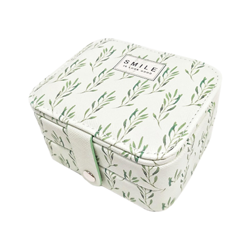 Миниатюрная шкатулка для ювелирных изделий Smile, 11х9х6 см. Цвет: зеленый