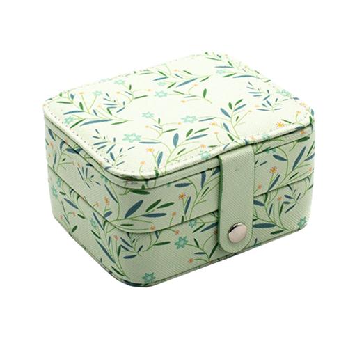 Миниатюрная шкатулка для ювелирных изделий Полевые цветы, 11х9х6 см. Цвет: зеленый