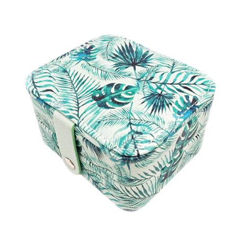 Миниатюрная шкатулка для ювелирных изделий Папоротник, 11х9х6 см. Цвет: зеленый