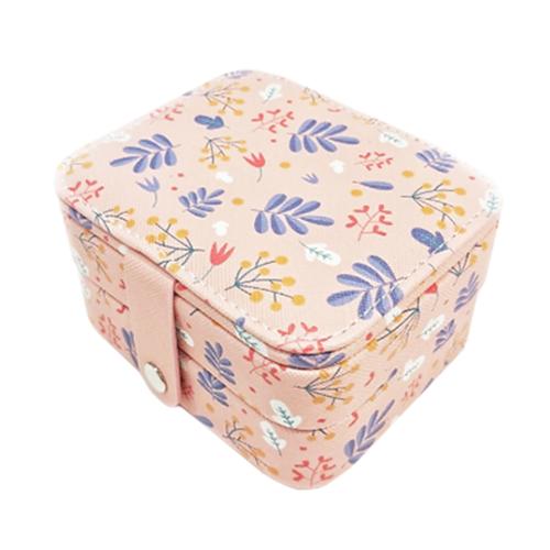 Миниатюрная шкатулка для ювелирных изделий Полевые цветы, 11х9х6 см. Цвет: розовый