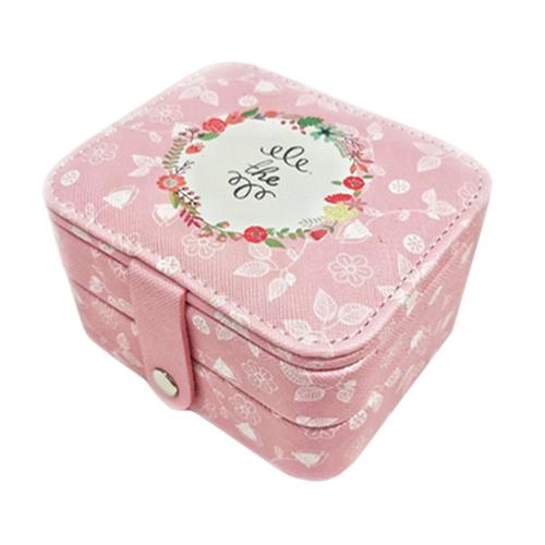 Миниатюрная шкатулка для ювелирных изделий The, 11х9х6 см. Цвет: розовый