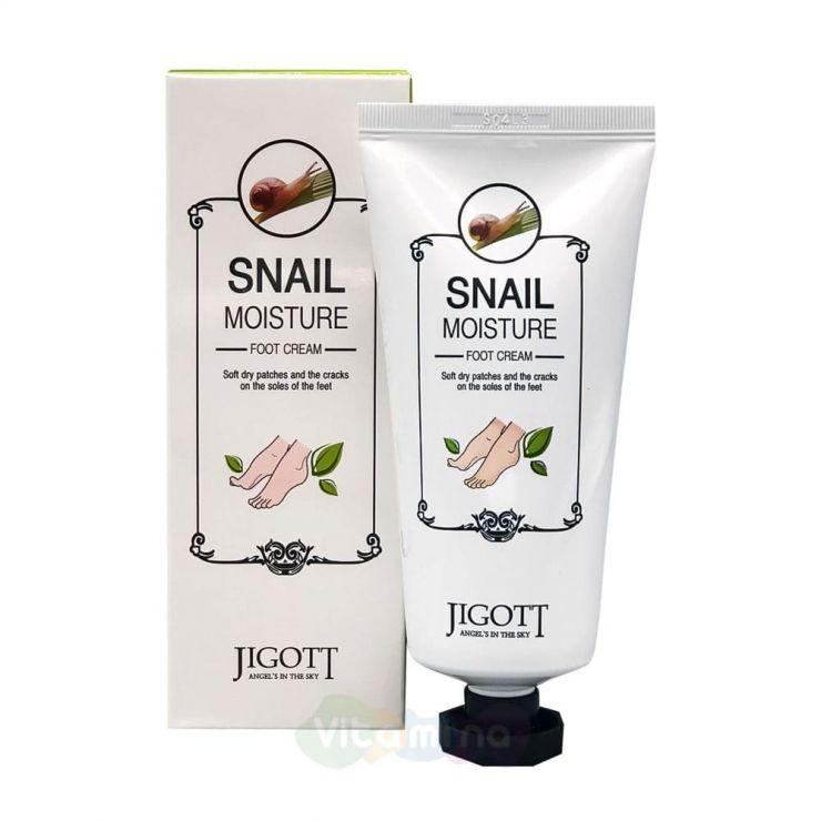Jigott Увлажняющий крем для ног с улиточным муцином Snail Moisture Foot Cream, 100 мл