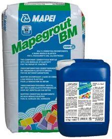 Ремонтная Cмесь 2-х комп. Mapei Mapegrout BM Компонент А+B 25кг + 4.7кг Тиксотропная, Нанесение от 10 до 35 мм