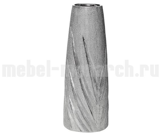 Ваза керамическая серебристая 18H7732M-3