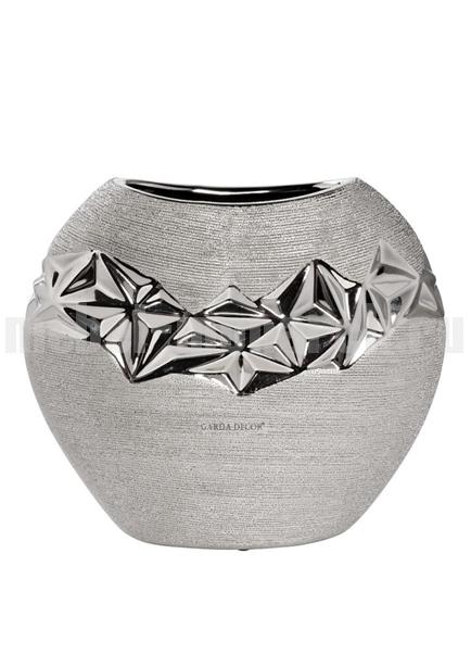 Ваза керамическая серебряная 18H2816L-19