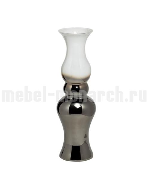 Ваза стеклянная дымчато-белая 35BB-00840WS