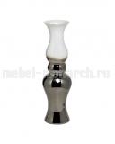 Ваза стеклянная дымчато-белая 35BB-00850WS