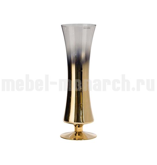 Ваза стеклянная прозрачная с розовым золотом 35BB-09150CG