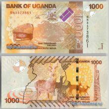 Банкнота 1000 шиллингов 2013 года - Уганда