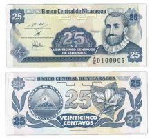 Банкнота Никарагуа 25 сентаво 1991