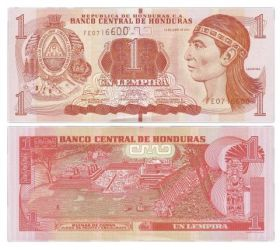 Банкнота 1 лемпир 2014 года - Гондурас
