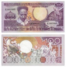 Банкнота Суринам 100 гульденов 1986