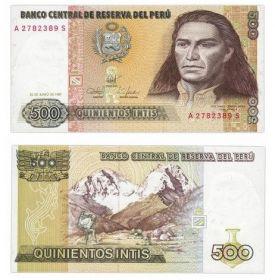 Банкнота Перу 500 инти 1987