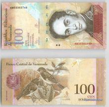 Банкнота 100 боливаров 2013 года - Венесуэла