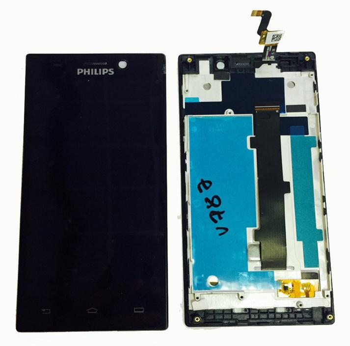 LCD (Дисплей) Philips Xenium V787 (в сборе с тачскрином) (в раме) (black) Оригинал