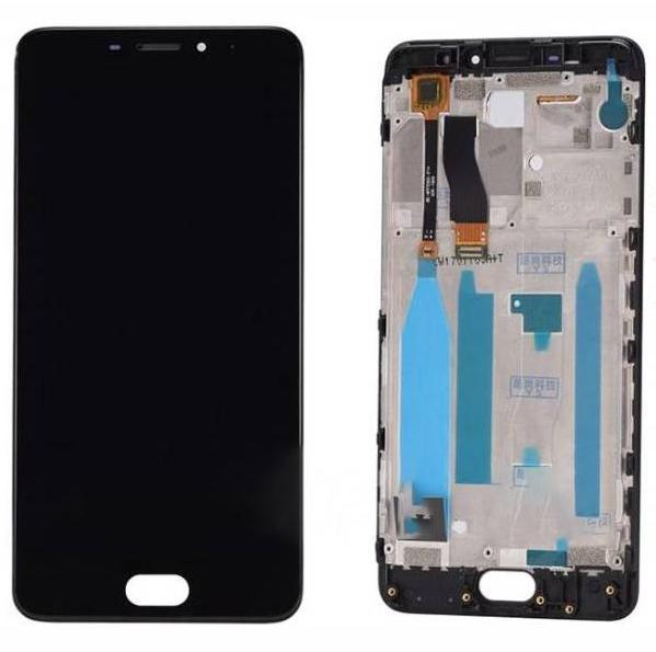 LCD (Дисплей) Meizu M5 Note (в сборе с тачскрином) (в раме) (black) Оригинал