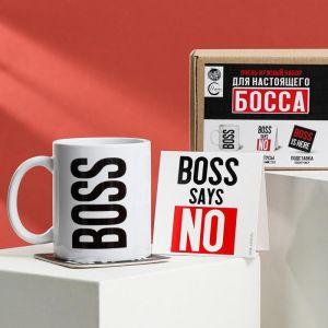 Набор «Для настоящего босса»: кружка 350 мл, подставка 9 ? 9, статус на стол