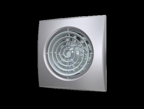 AURA 5C gray metal, Вентилятор осевой вытяжной с обратным клапаном D 125