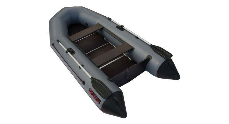 Лодка ПВХ Тайга 270 килевая С-Пб серая