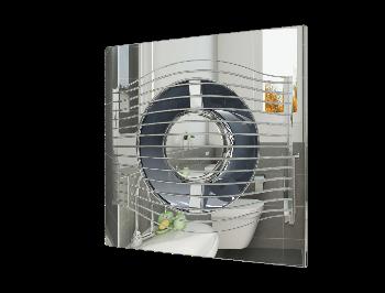 SLIM 4C Chrome, Вентилятор осевой вытяжной с обратным клапаном D 100, декоративный