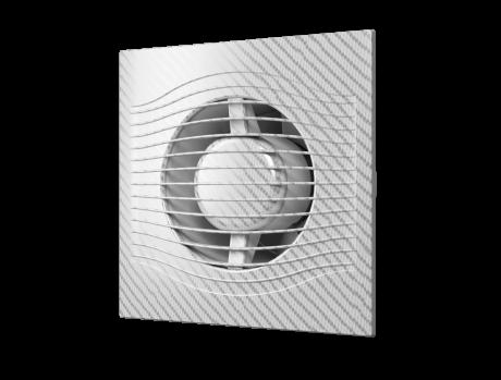 SLIM 4C White Carbon, Вентилятор осевой вытяжной с обратным клапаном D 100, декоративный