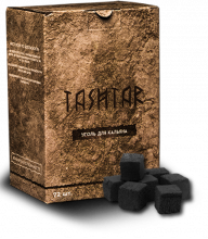 Уголь Tashtar 25mm 72шт 1кг