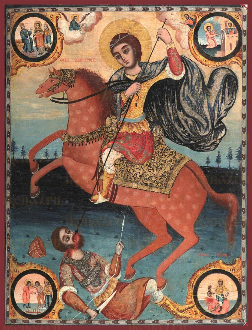 Икона Димитрий Солунский великомученик