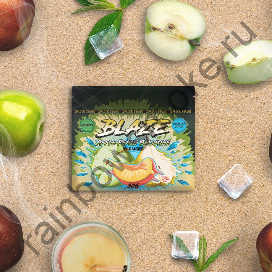 Blaze Medium 50 гр - Apple Peach Smoothie (Яблочно-Персиковое Смузи)