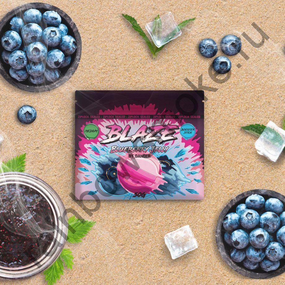 Blaze Medium 50 гр - Blueberry Jelly (Черничное Желе)
