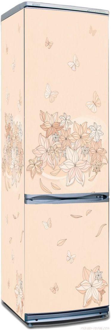 Наклейка на холодильник -  Floral-1