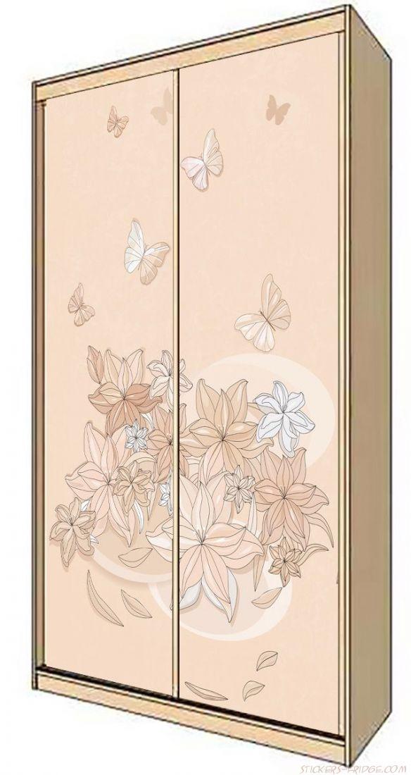 Наклейка на шкаф - Floral-1