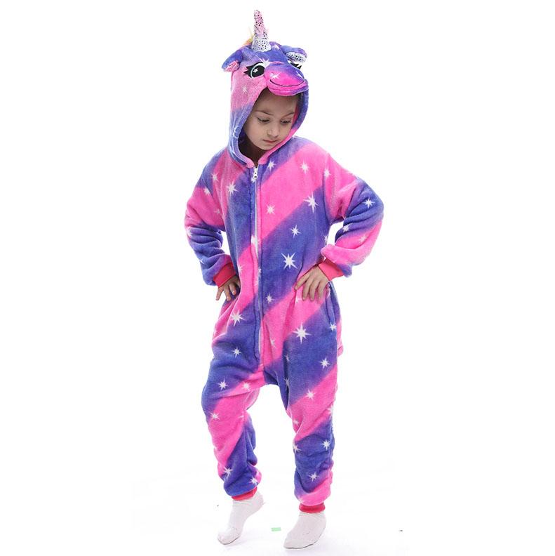 Детская Пижама Кигуруми Единорог Млечный Путь