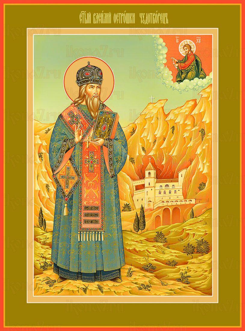 Икона Василий Острожский святитель