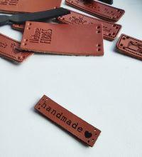 HAND MADE нашивка без загиба (8х34 мм) в упаковке 10 шт