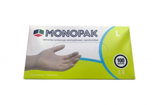 """Перчатки латексные неопудренные """"MONOPAK"""""""