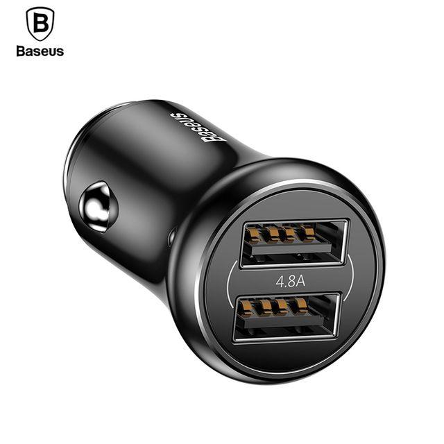 Автомобильное зарядное устройство Baseus Gentleman 4.8A Dual-USB Car Charger Черный