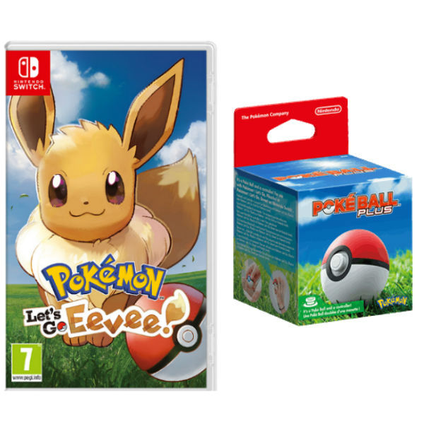 Игра Pokemon: Let's Go Eevee + Poke Ball Plus (Nintendo Switch)